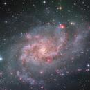 The Triangulum Galaxy - Zoom in - Version2,                                Arnaud Peel