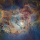 M8 - The Lagoon Nebula - Starless Hubble Palette,                                Eric Coles (coles44)