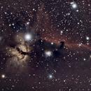 Flame and Horsehead IC434, Bernard 33, NGC 2024,                                Andy Harwood