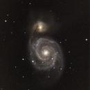 M51 + supernova 2011dh + NGC5195,                                Thierry Noel