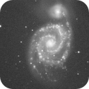 Image H_alpha montrant la distribution des nébuleuses dans la galaxie spirale Messier 51,                                Denis Bergeron