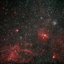 M52 and Bubble Nebula,                                Joe Haberthier