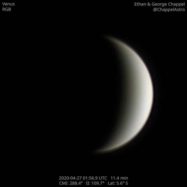 Venus on April 27, 2020,                                Chappel Astro