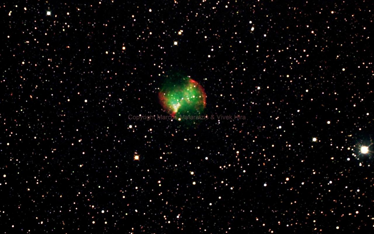 M27 - The Dumbbell Nebula in Vulpecula,                                Mataratzis