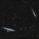 NGC 4627 NGC 4656 Whale and hockeystick galaxies in HaLRGB,                                Piet Vanneste