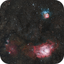 M8 and M20, Lagoon and Trifid Nebulae,                                Aaron Collier