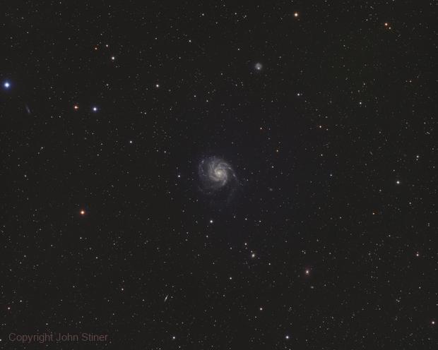 Messier 101 Widefield,                                John Stiner
