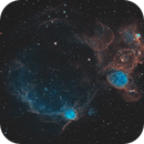 At the Edge of  SMC - Flying Lizard,  Supernova Remnant SXP 1062 and NGC460,                                Patrick Dufour