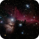 NCG 2024 Flame nebula and horsehead in widefield - first try at gain 100,                                Ian Dixon