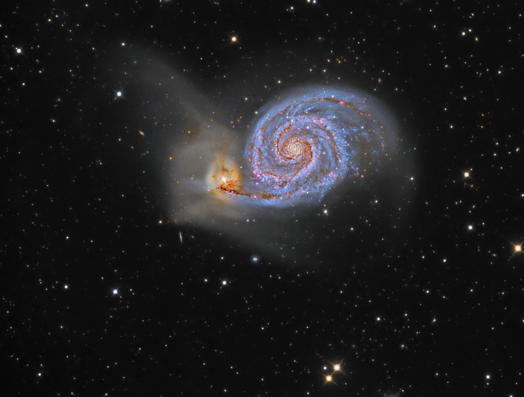 M 51, the Whirlpool Galaxy,                                Steve Cooper