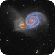 M 51, the Whirlpool Galaxy,                                Steve Cooper