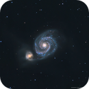 M51 • Whirlpool Galaxy in LRGB,                                Douglas J Struble