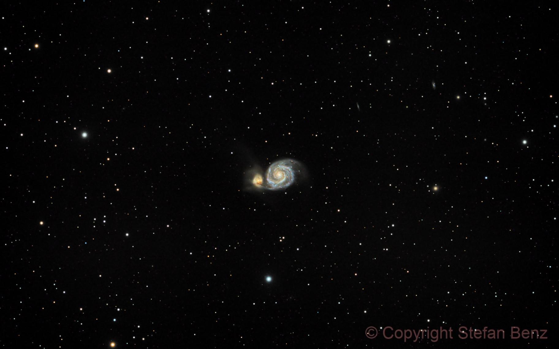 M51 - Strudelgalaxie,                                Stefan Benz