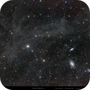 an angel flying over the M81 Galaxy - M81+M82+IFN,                                WildDuck