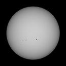 Sun in White Light - December 27, 2020 (Full disk w/ AR 2794 & 2795),                                JDJ