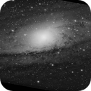 Chaotic kernel of M31 in Grayscale,                                Harold Freckhaus