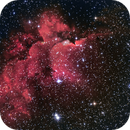 NGC 7380 (SH2-142) - Flying Horse (Wizard) Nebula,                                w4sm