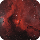 IC 1871, Detail in the Soul Nebula in BiColor HOO,                                Madratter
