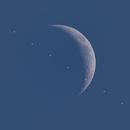 Daytime ISS Lunar Transit,                                Aaron Collier