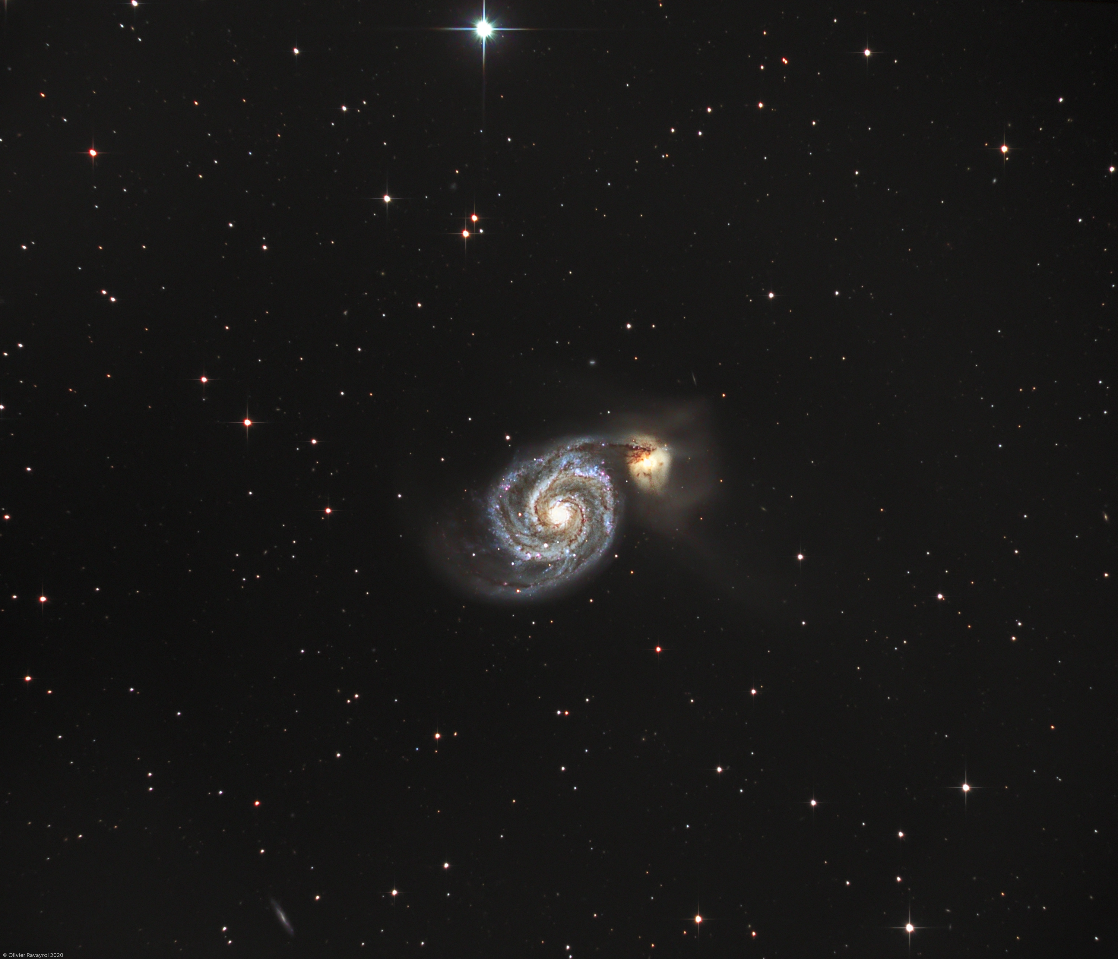 The Whirlpool Galaxy (M51),                                Olivier Ravayrol