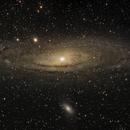 M31 - Andromeda Galaxy Mosaic 2x2,                                Fabio Papa