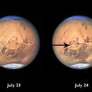 Local dust storms on Mars.,                                Sebastian Voltmer