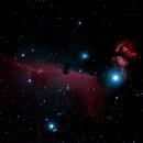 Hosehead and flame nebula,                                nonsens2