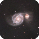 M51 Whirlpool Galaxy LRGB,                                Michael Caller