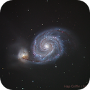 M51 - The Whirlpool Galaxy in Canes Venatici,                                Hap Griffin