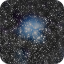 Cloudy Pleiades (M 45) new approach,                                AstroHannes68