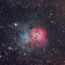 Trifid Nebula M20   - LRGB,                                Arnaud Peel