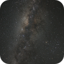 Southern Milky Way with meteor,                                P-K