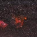 LRGB Version Neubearbeitung 9 von Herz-Nebel NGC 896 und Seelen-Nebel IC 1848,                                Matthias Groß