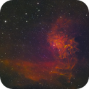 IC405 - Flaming Star Nebula in HSO,                                Kyle Pickett