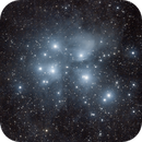Widefield M45 - reprocessed from scratch,                                Ian Dixon