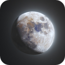 The mineral Moon in HDR,                                Lyaphine
