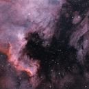 NGC 7000 - North America Nebula, IC 5070 - Pelican Nebula,                                Taman