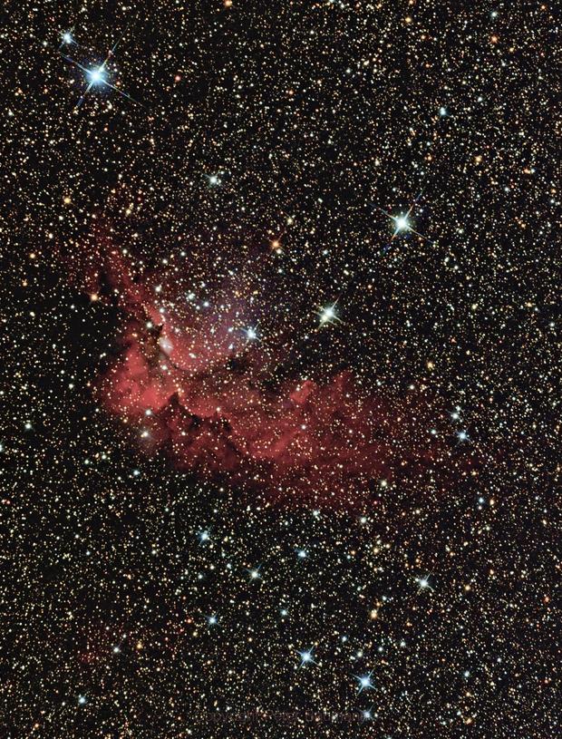 NGC 7380 - Wizard Nebulae,                                Peter Baumann