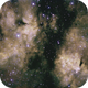 "IC 1318 ""The Butterfly Nebula"" in Cygnus,                                 degrbi"
