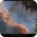 NGC7000 The Wall Area,                                Mike Oates