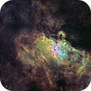 Eagle Nebula Hubble Palette,                                David Lindemann