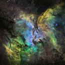 NGC6188 Widefield in HST Palette,                                John Ebersole