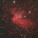 Wizardnebel NGC 7380 im Sternbild Kepheus,                                astrobrandy