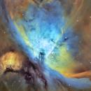 M42 Orion Nebula, Hubble Palette, Tone Mapped,                                Eric Coles (coles44)