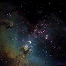 m 16 - Eagle nebula - pillars of creation,                                andrealuna