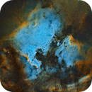 North America + Pelican Nebula - 4 Panel Mosaic,                                Bill Long