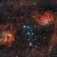 IC 405 Flaming Star Nebula & IC 410,                                star-watcher.ch