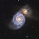 M51 The Beautiful Whirlpool Galaxy,                                John Hayes