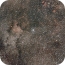Cygnus taken with a modded 1100d and a Tamron 28-75 at 50 and a Nano Tracker - July 2013,                                Stefano Ciapetti