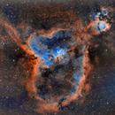 Heart (Ced7/Cr26/IC1805/LBN654/Mel15/Sh2-190) and Fishhead (Ced6/IC1795/LBN645/NGC896) nebulae (c-sho),                                Ram Samudrala